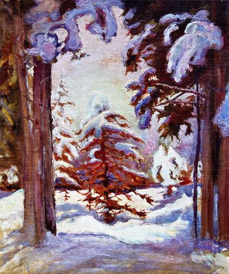 Бурачек - Зима в лесу. Карпаты