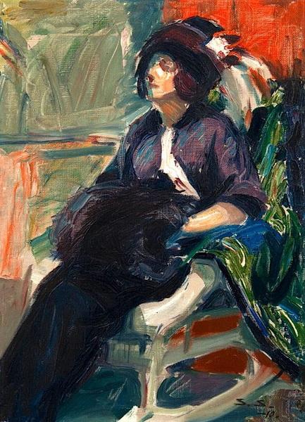 Santeri Salokivi - Lady in a Rocking Chair
