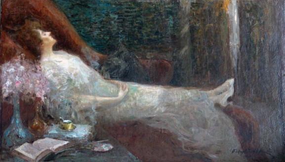 Щербиновский - Портрет актрисы Парижского театра