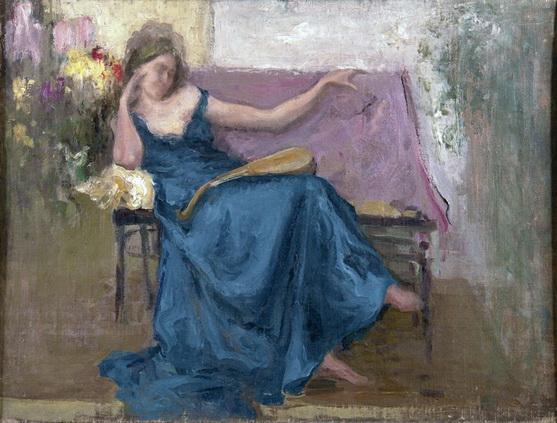 Щербиновский - Сидящая женщина в голубом