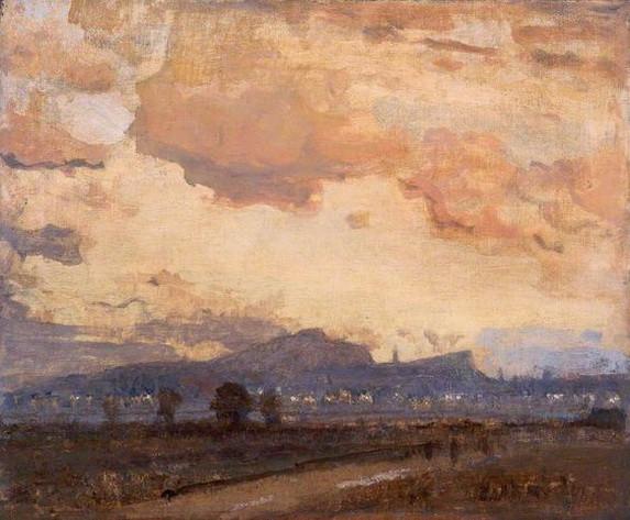 James Paterson - Sunset, Arthur's Seat, Edinburgh