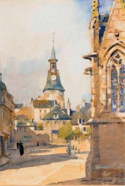 James Paterson - Early morning, Place Saint Sauveur