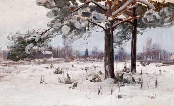 Victor Westerholm - SNOW COVERED PINE TREES