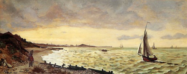 Frederic Bazille - Beach at Sainte-Adresse