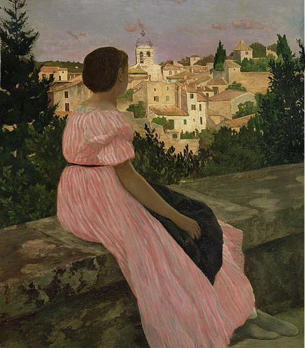 Frederic Bazille - The Pink Dress