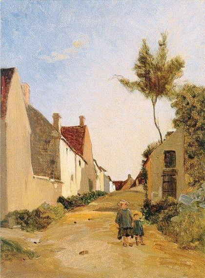 Frederic Bazille - Village Street
