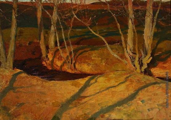 Рушиц Фердинанд - Осенний пейзаж. Закат