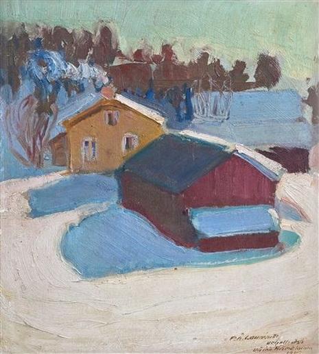 Vaino Hamalainen - Winter scene