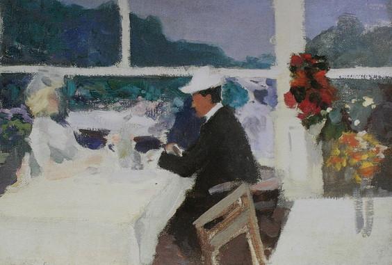 Степанов Ал. -  В кафе. На юге Франции