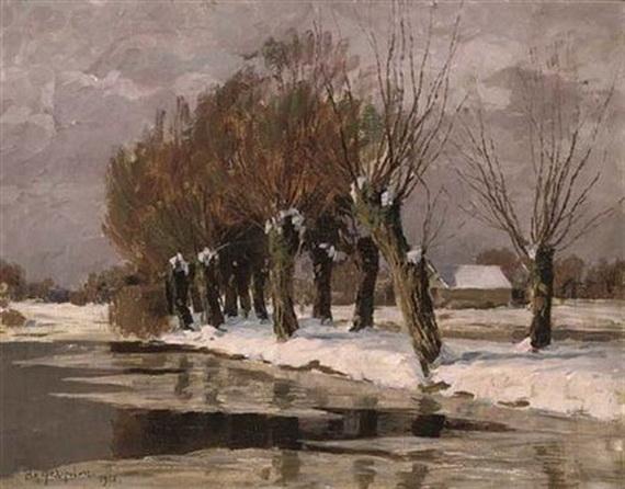 Федорович Владимир Николаевич - a snowing landscape