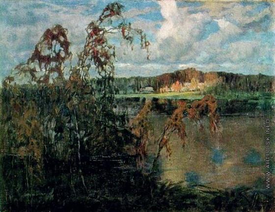 Федорович Владимир Николаевич - Осенний вечер на озере.