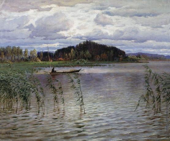 Федорович Владимир Николаевич - Хмурый день. Озеро