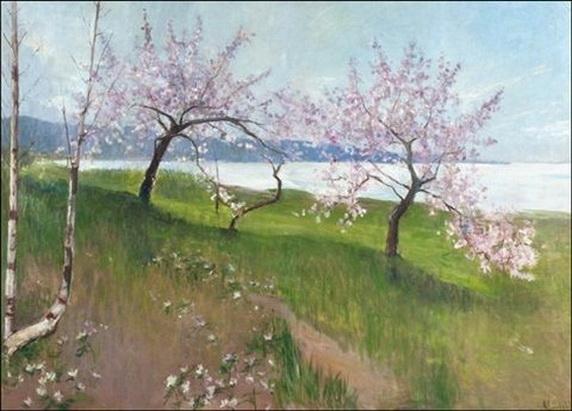 Amelie Helga Lundahl - Kukkivat omenapuut