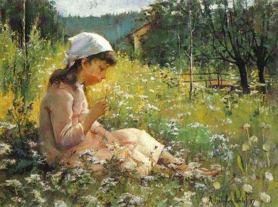 Amelie Helga Lundahl - Girl in a Meadow