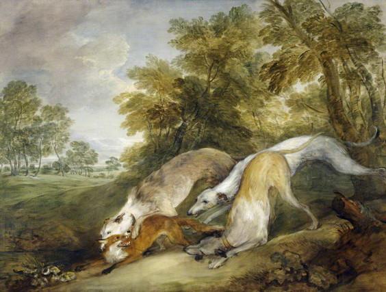 Thomas Gainsborough - Dogs Chasing a Fox