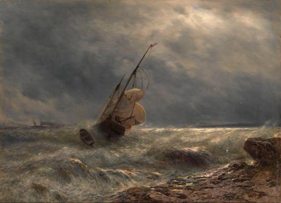 Лагорио - Корабль в бурю
