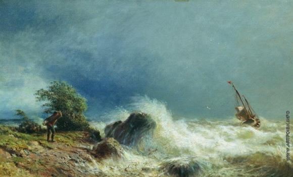 Лагорио - Одинокий корабль в бурю