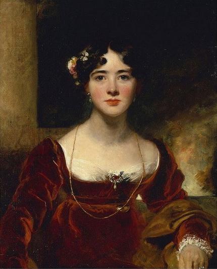 Thomas Lawrence - Portrait of Mrs. John Allnutt