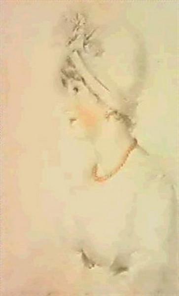Thomas Lawrence - PORTRAIT OF MRS JOHN KEMBLE
