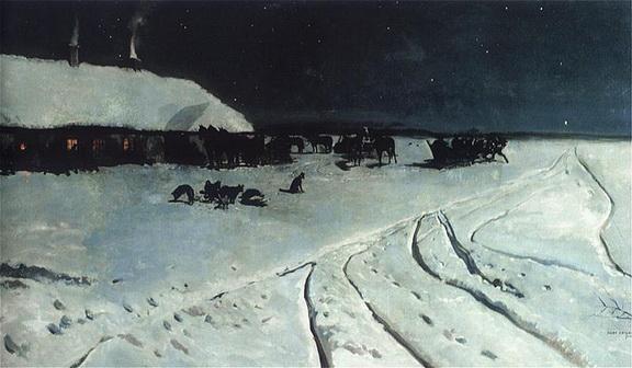 Jozef Chelmonski - Night on Ukraine