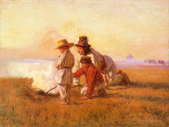 Jozef Chelmonski -  Shepherds' Campfire