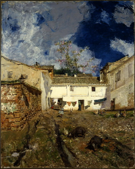Mariano Fortuny - a patio in granada