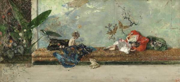 Mariano Fortuny - The Artist's Children in the Japanese Salon 1