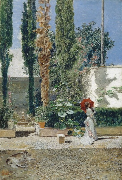 Mariano Fortuny - the garden of the fortuny residence