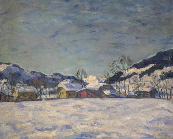 Лаховский - Деревня зимой