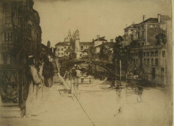David Young Cameron - Canal, Venice