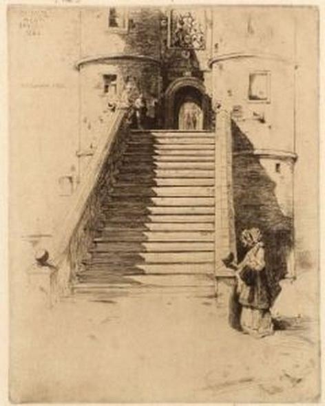 David Young Cameron - The Stairs of Rowallon
