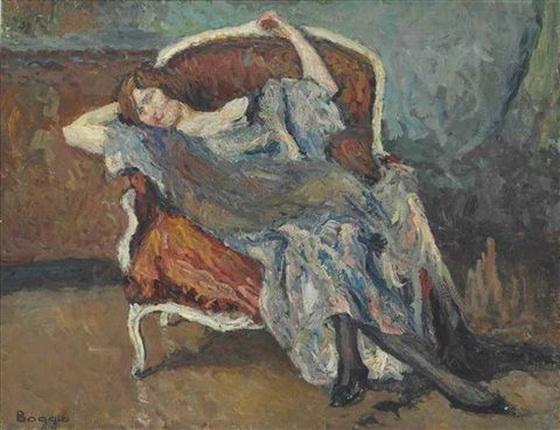 Emilio Boggio - Mujer en poltrona