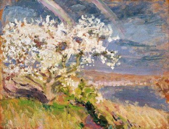 Emilio Boggio - Arbres en fleurs