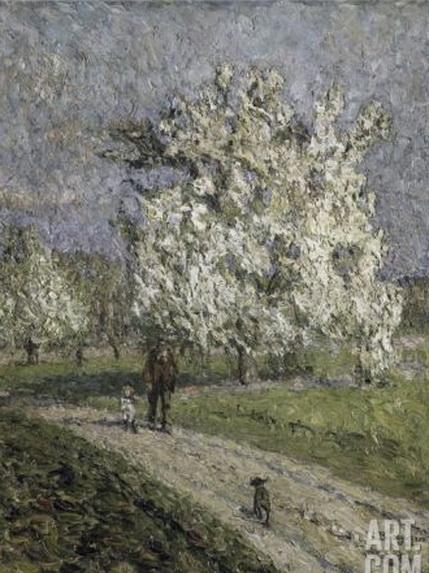 Emilio Boggio - Le Grand Poirier en fleurs Laminas