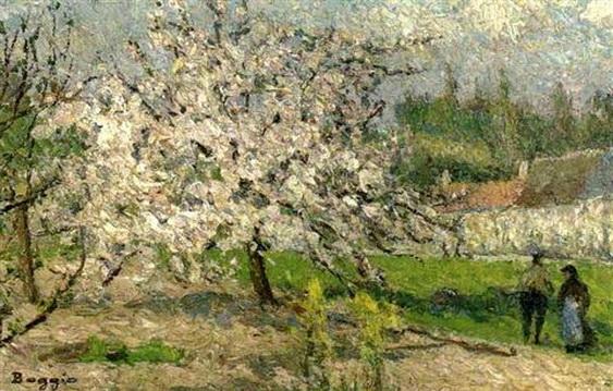 Emilio Boggio - Le petit pommier en fleurs de Chaponval