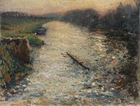 Emilio Boggio - Les canotiers sur l'Oise