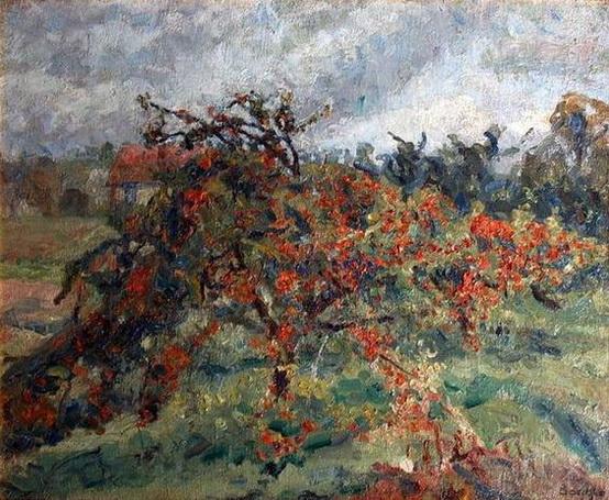 Emilio Boggio - Los manzanos rojos