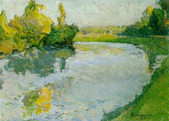 Emilio Boggio - L'Oise, effet d'automne
