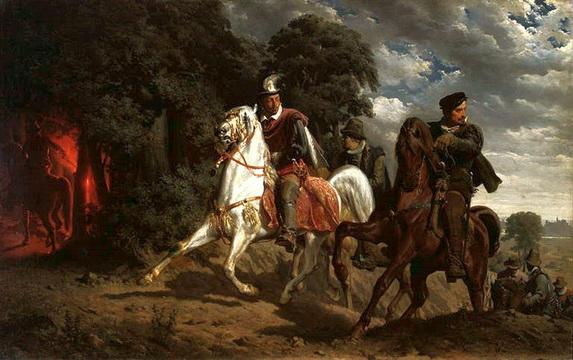Artur Grottger  - Escape of Henry of Valois