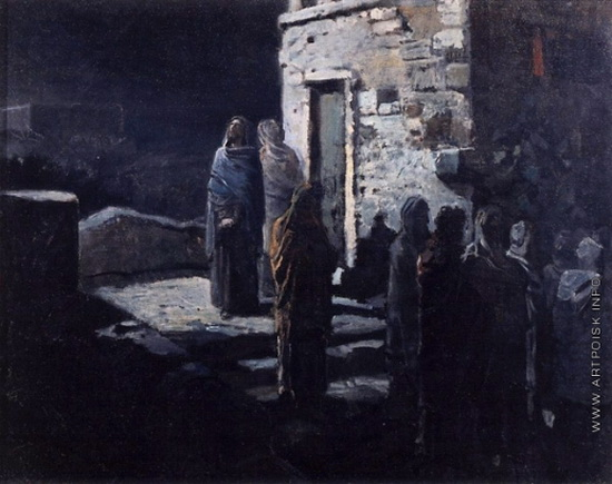 Ге Николай - Выход Христа с учениками с Тайной вечери