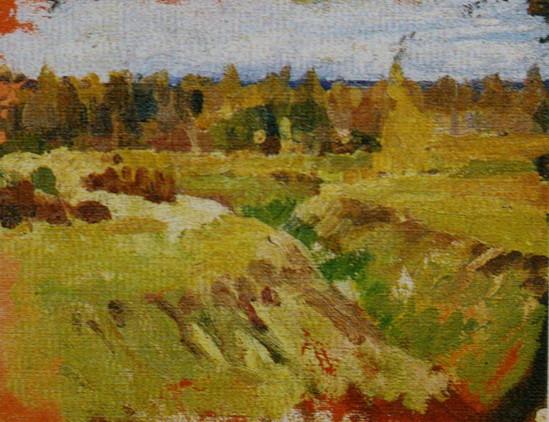 Делла-Вос-Кардовская - Осенний пейзаж с оврагом
