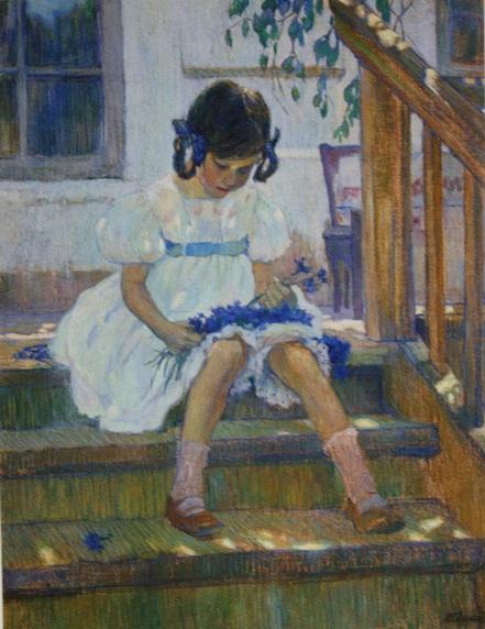 Делла-Вос-Кардовская - Девочка с васильками