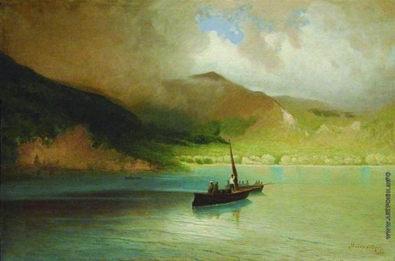 Мещерский - Пейзаж с рыбацкими лодками