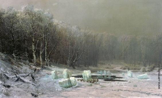 Мещерский - Зима. Ледокол