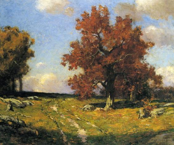 Bruce Crane - Country Lane in Autumn