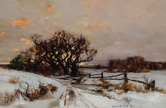 Bruce Crane - Winter Sunrise