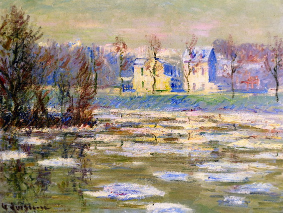 Gustave Loiseau - The Oise at Winte