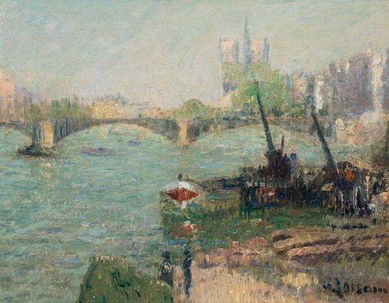 Gustave Loiseau - Notre Dame de Paris et le pont de Sully
