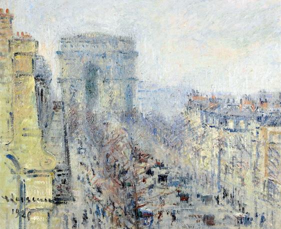 Gustave Loiseau - Paris L'avenue de Friedland