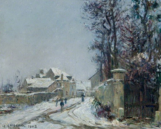 Gustave Loiseau - Snow at Saint-Ouen l'Aumone